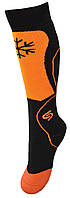 Термоноски InMove Ski Kid 27-29 Черные с оранжевым