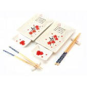 Набор для суши Белый с цветами сакуры (2 персоны) 23680