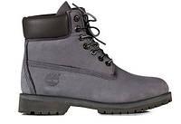 """Зимние ботинки на меху Timberland 6 inch """"Grey Black"""" - """"Серые Черные"""" (Копия ААА+)"""