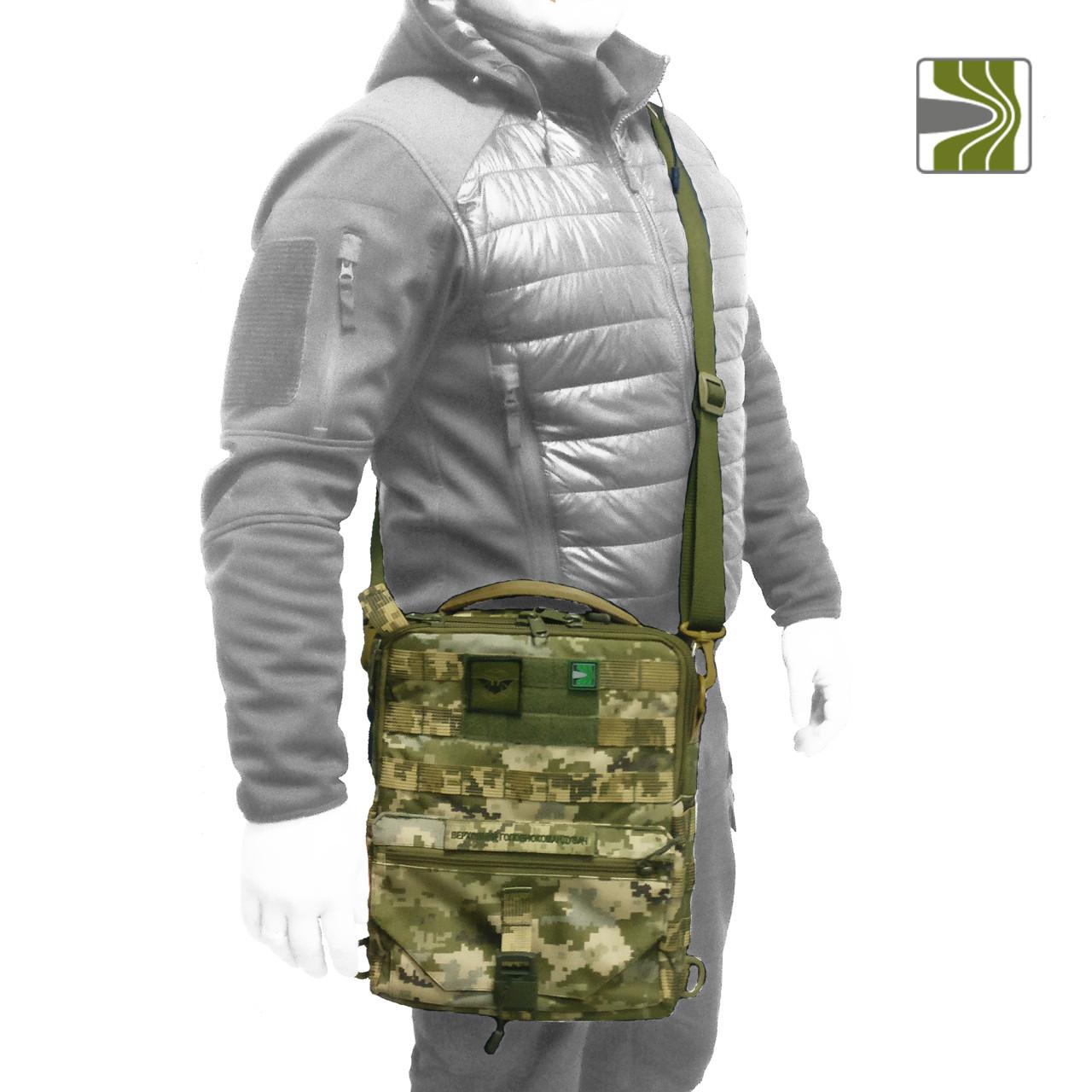 Тактичний планшет (тактична сумка планшет), колір ММ-14 (український піксель / українська цифра)