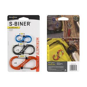 Алюминиевый карабин S-Biner SlideLock, 3 шт.