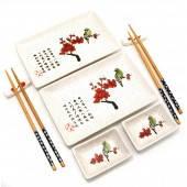 Набор для суши Птица на ветке сакуры (2 персоны) 29745