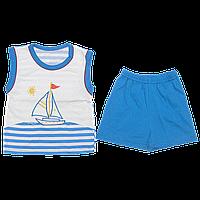 Детский летний костюмчик: майка и шортики, тонкий хлопок; ТМ Виктория, р.92, 98, 104, 110, 116, Украина