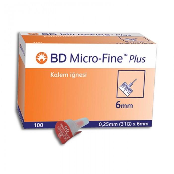 Иглы инсулиновые БД Микрофайн Плюс 6мм, 100шт. -BD Micro-Fine Plus