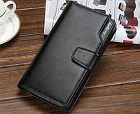 Мужской клатч, кошелек, портмане Baellerry Business Черный