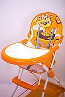 """Детский стульчик для кормления """"Sigma-Line"""" C-H-2 Leo оранжевый, фото 1"""