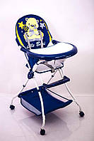 """Детский стульчик для кормления """"Sigma-Line"""" C-H-2 Bear синий"""