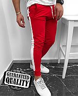 Мужские брюки с лампасами | Чоловічі брюки з лампасами (Красный)