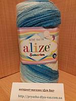Детская акриловая пряжа (100%акрил,100г/320м) Alize Sekerim bebe batik 2130