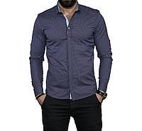 f7b96b9ffe9aa80 Рубашка мужская приталенная, длинный рукав. Турция. Молодежная турецкая  рубашка.