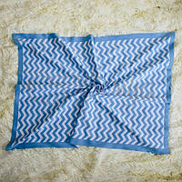 Плед Зигзаг голубой, фото 1