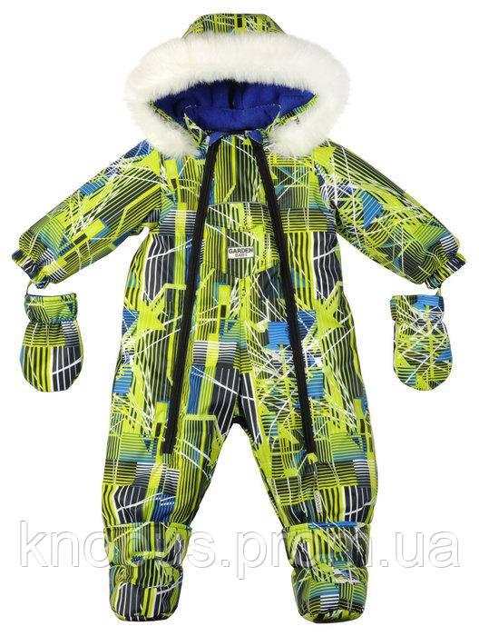 Комбинезон-трансформер для мальчика с флисовой подкладкой,,  Garden baby. Размеры 68, 74