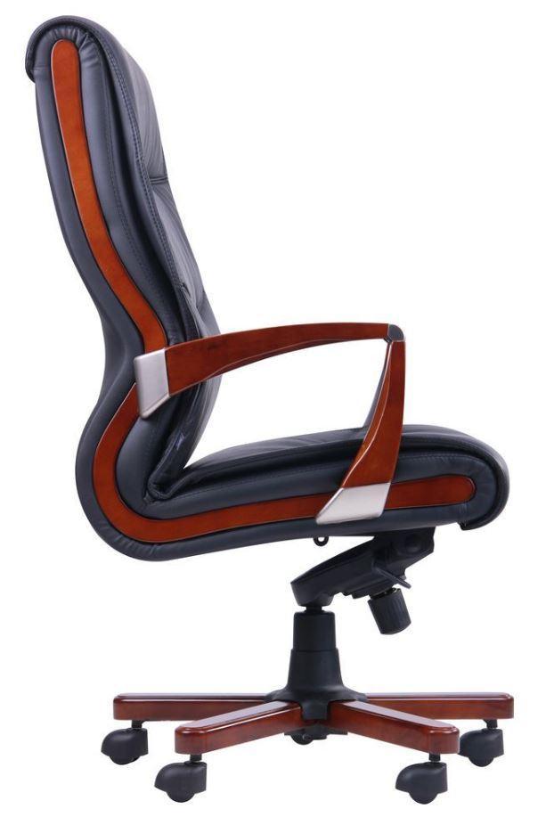 Кресло Монтана НВ, кожа черная (619-B+PVC) фото 3