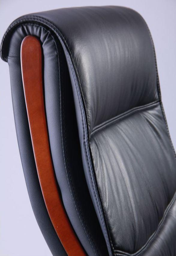 Кресло Монтана НВ, кожа черная (619-B+PVC) фото 5