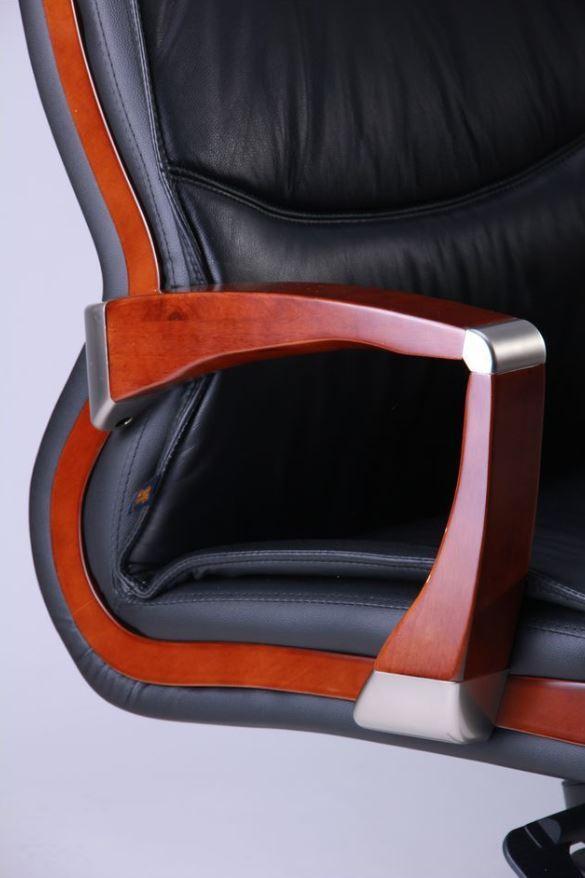 Кресло Монтана НВ, кожа черная (619-B+PVC) фото 6