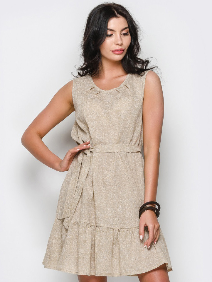 4d242113b9e ♢️Летнее платье из легкой натуральной ткани без рукавов (с поясом ...