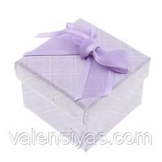 Коробочка для украшений под кольцо или серьги сиреневая