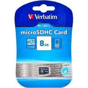 Карта памяти VERBATIM CARD microSDHC 8 Gb                        44012, фото 2