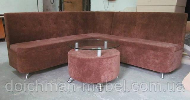 Мягкий кухонный уголок со столиком (ткань велюр-антикоготь)