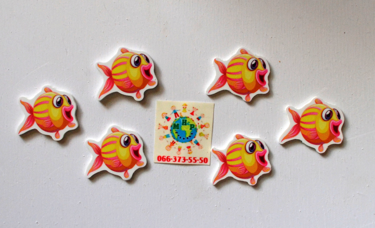 Магнитик канцелярский Рыба