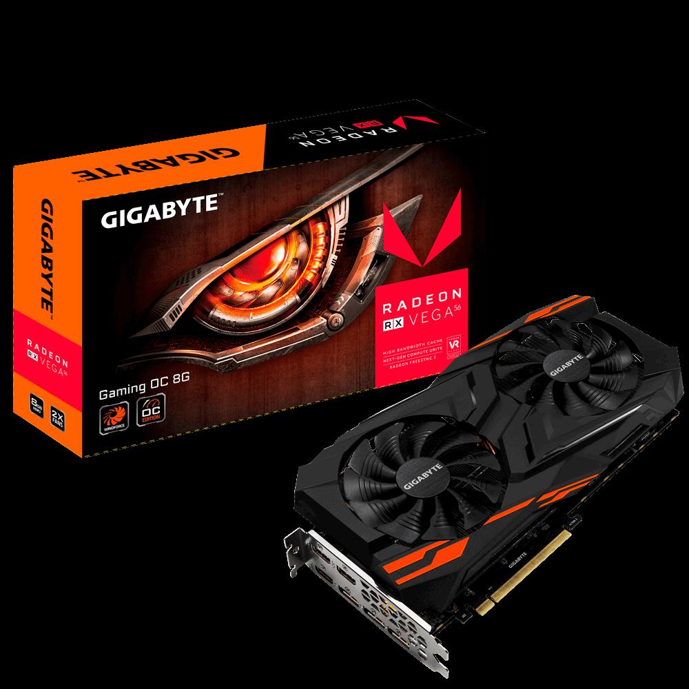 Видеокарта GigaByte Radeon RX Vega 56 GAMING OC 8G (GV-RXVEGA56 GAMING OC-8GD)