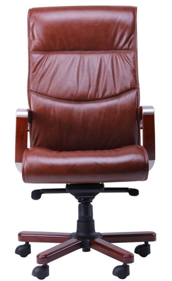 Кресло Монтана НВ, кожа коричневая (619-B+PVC) фото 2