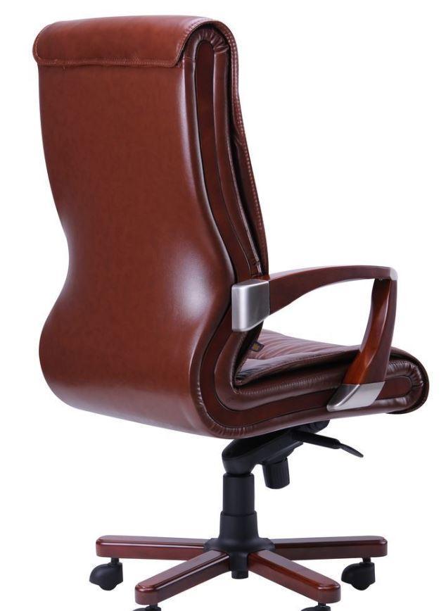 Кресло Монтана НВ, кожа коричневая (619-B+PVC) фото 4