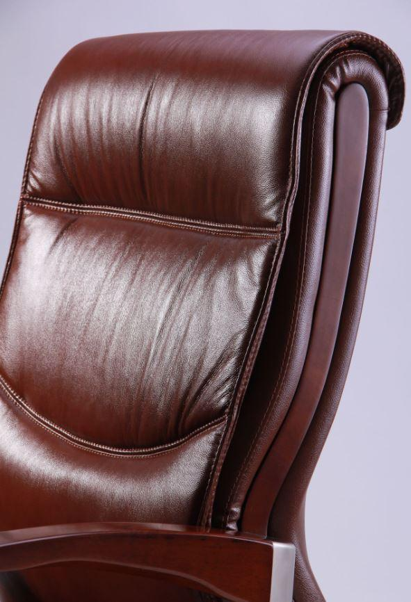 Кресло Монтана НВ, кожа коричневая (619-B+PVC) фото 5