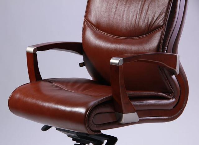 Кресло Монтана НВ, кожа коричневая (619-B+PVC) фото 6