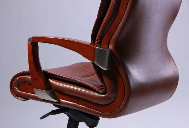 Кресло Монтана НВ, кожа коричневая (619-B+PVC) фото 7