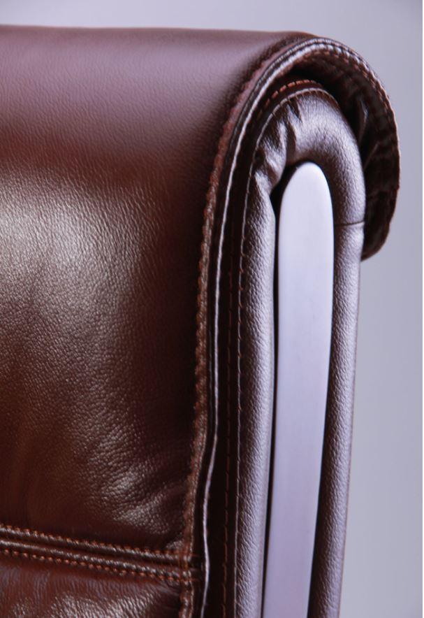 Кресло Монтана НВ, кожа коричневая (619-B+PVC) фото 9