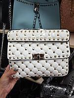 5bc3ad835f12 Женская сумка-клатч копия Валентино Valentino качественная эко-кожа цвет  белый