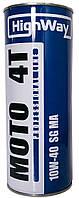 Моторное масло(полусинтетика) HighWay MOTO 4T 10w40