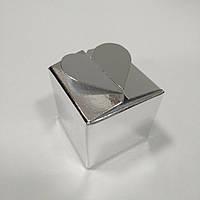 Коробка с замком «Сердечко» (серебряный) 40х40х40 мм., фото 1