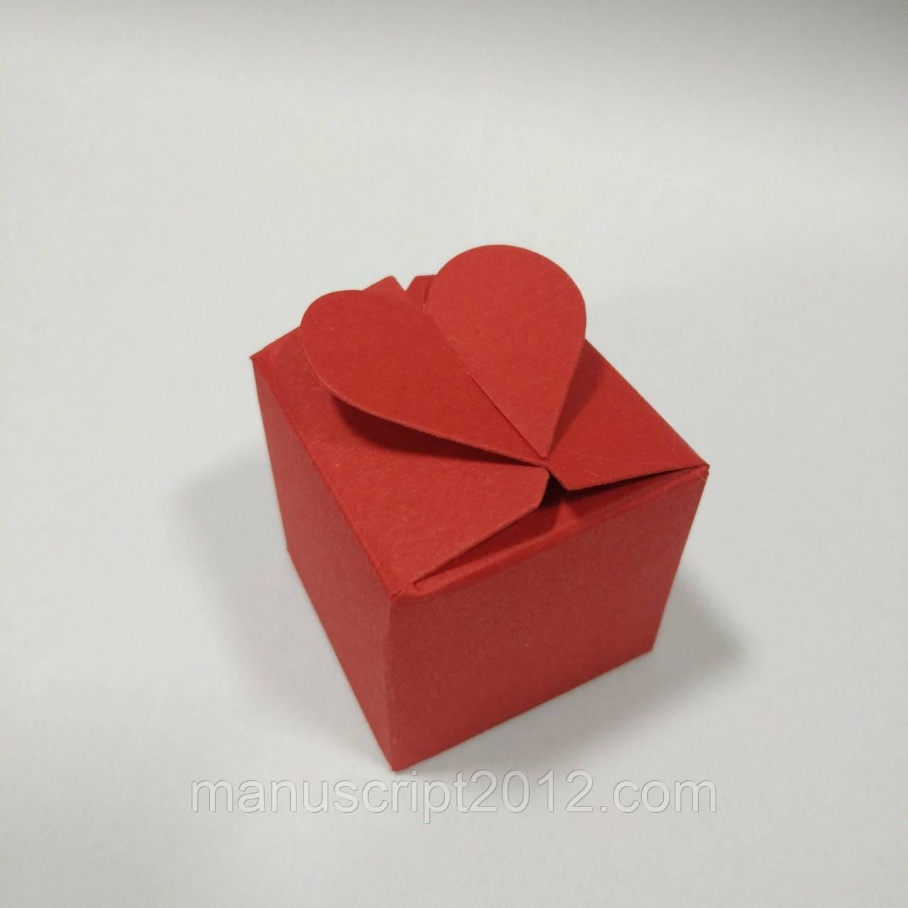 Коробка с замком «Сердечко» (красная) 40х40х40 мм.