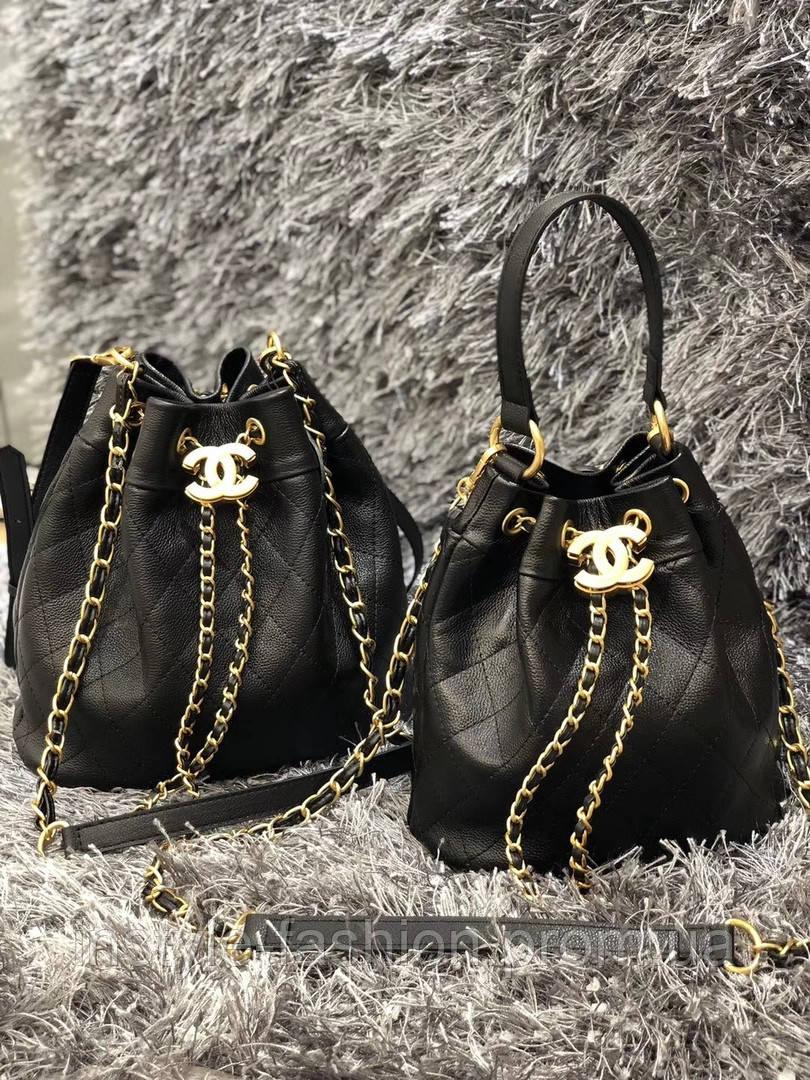 Женская модная сумка-мешок копия Шанель Chanel дорогой Китай