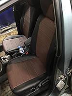 Чехлы на сиденья Шевроле Авео Т250 (Chevrolet Aveo T250) (модельные, кожзам, отдельный подголовник)