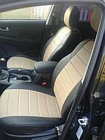 Чехлы на сиденья ДЭУ Нубира (Daewoo Nubira) (модельные, кожзам, отдельный подголовник), фото 1