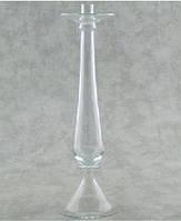 Подсвечник на фигурной высокой ножке. Высота 410 мм. Подсвечник для флористики. Подсвечник  для декора.