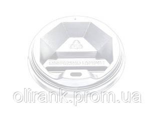 Крышка ТОППЛАСТ КР-80 (белая) 50шт уп  50уп/ящ (под крафт 340 и гофра 300ст)