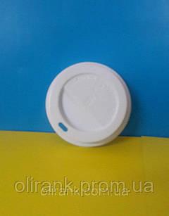 Кришка для паперового склянки КВ - 85 біла 50шт/уп (40уп/ящ)