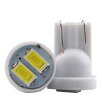Светодиодные лампы LED T10 W5W 2 SMD (5630)(12V)