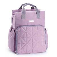 5000103 Сумка рюкзак для мамы сеганая лаванда