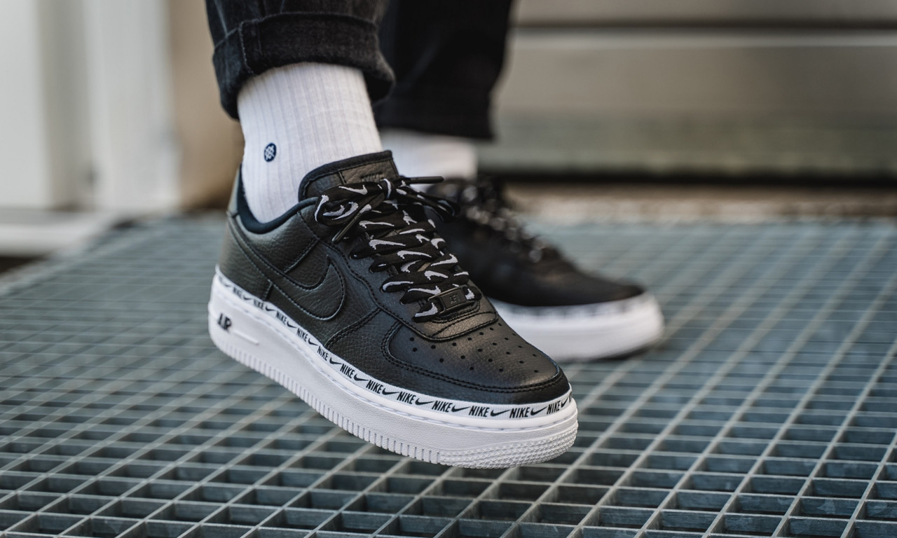 Кроссовки мужские в стиле Nike Air Force Black (Реплика ААА+)
