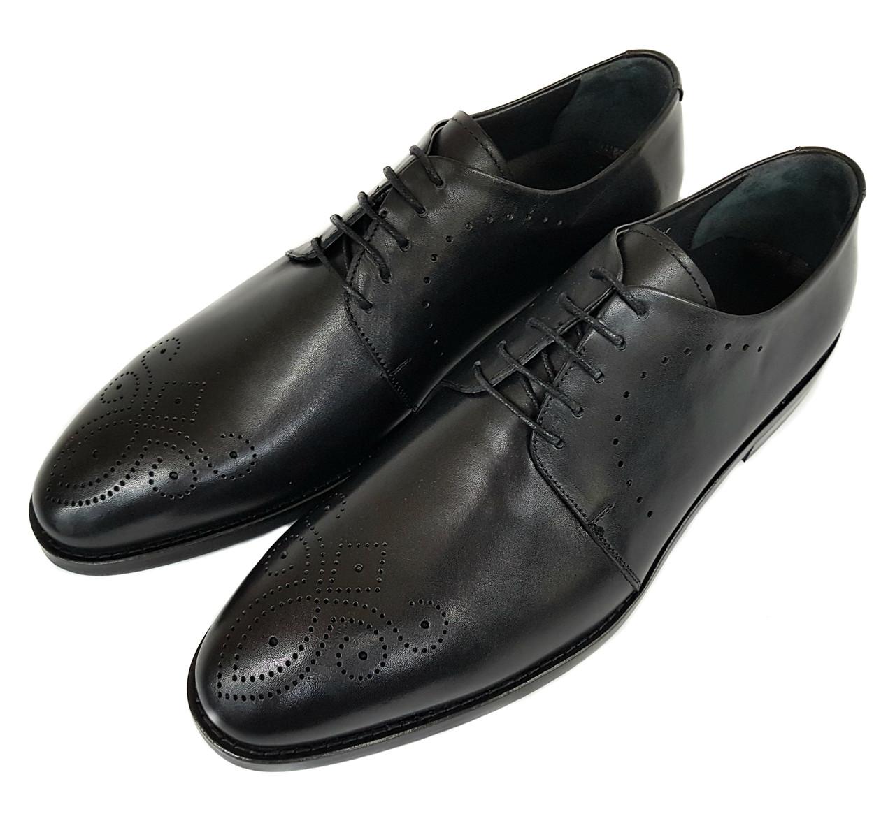 Мужские кожаные туфли оксфорды Rifellini черные SH0005/05