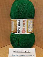 Акриловая пряжа (100%-акрил, 100г/ 400м) Kartopu Super Perle K416 (ярко-зелёный)