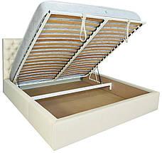 """Кровать Кембридж (с пуговицами) (комплектация """"Люкс"""") с подъем.мех., фото 2"""