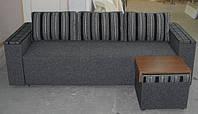 Диван раскладной спальный Еврокнижка +пуф