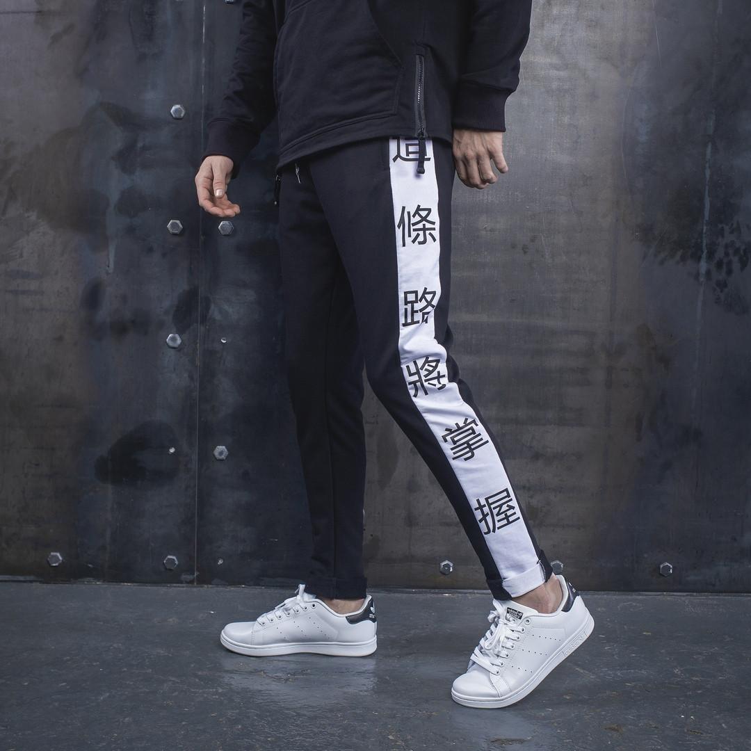 Мужские спортивные штаны BEZET China white'19, мужские спортивные штаны с лампасами