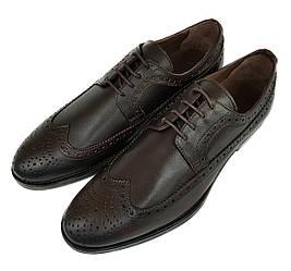 Мужские кожаные туфли оксфорды Gartiero коричневые